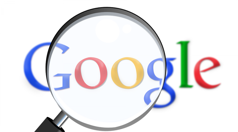 google logo with magnifier